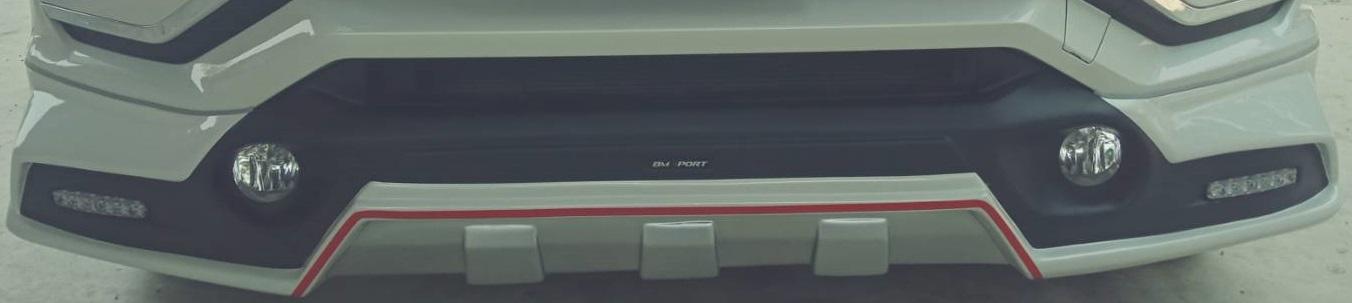 ชุดแต่งรอบคัน XPENDER 2019 ท่อคู่ (ตัดแดง)