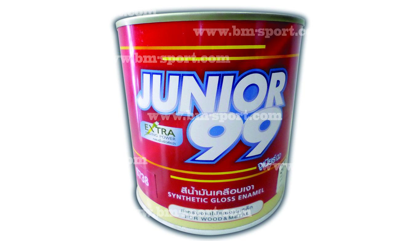 JUNIOR 99 สีน้ำมันเคลือบเงา สำหรับงานไม้และงานเหล็ก มีสองขนาด คือ 0.875 Litres และ 3.5 Litres