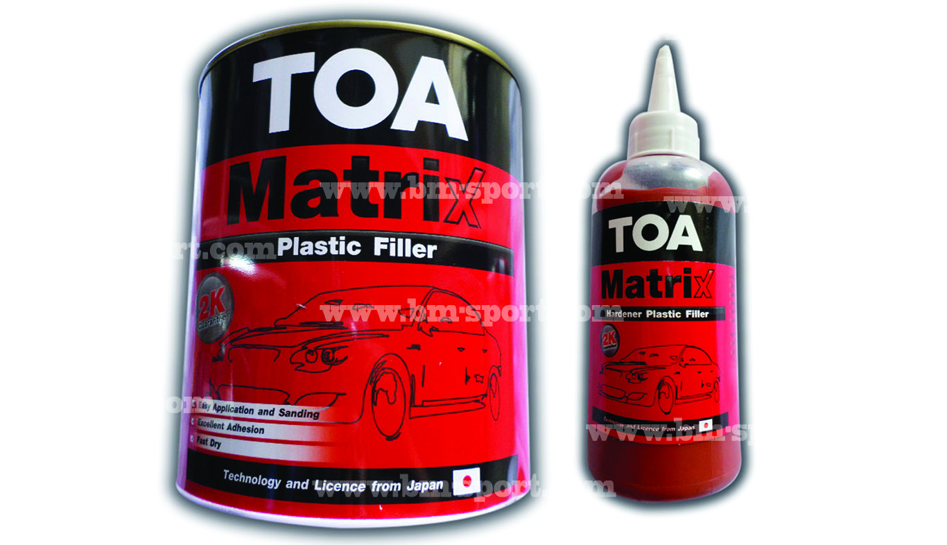 TOA Matrix Plastic Filler ขนาด 5.4 กก.+Hardener