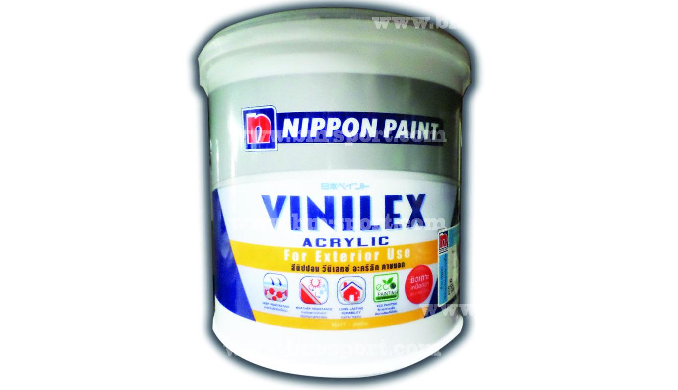 NIPPON PAINT Vinilex Acrylic For Exterior Use ขนาด 3.44 ลิตร และขนาด 8.27 ลิตร