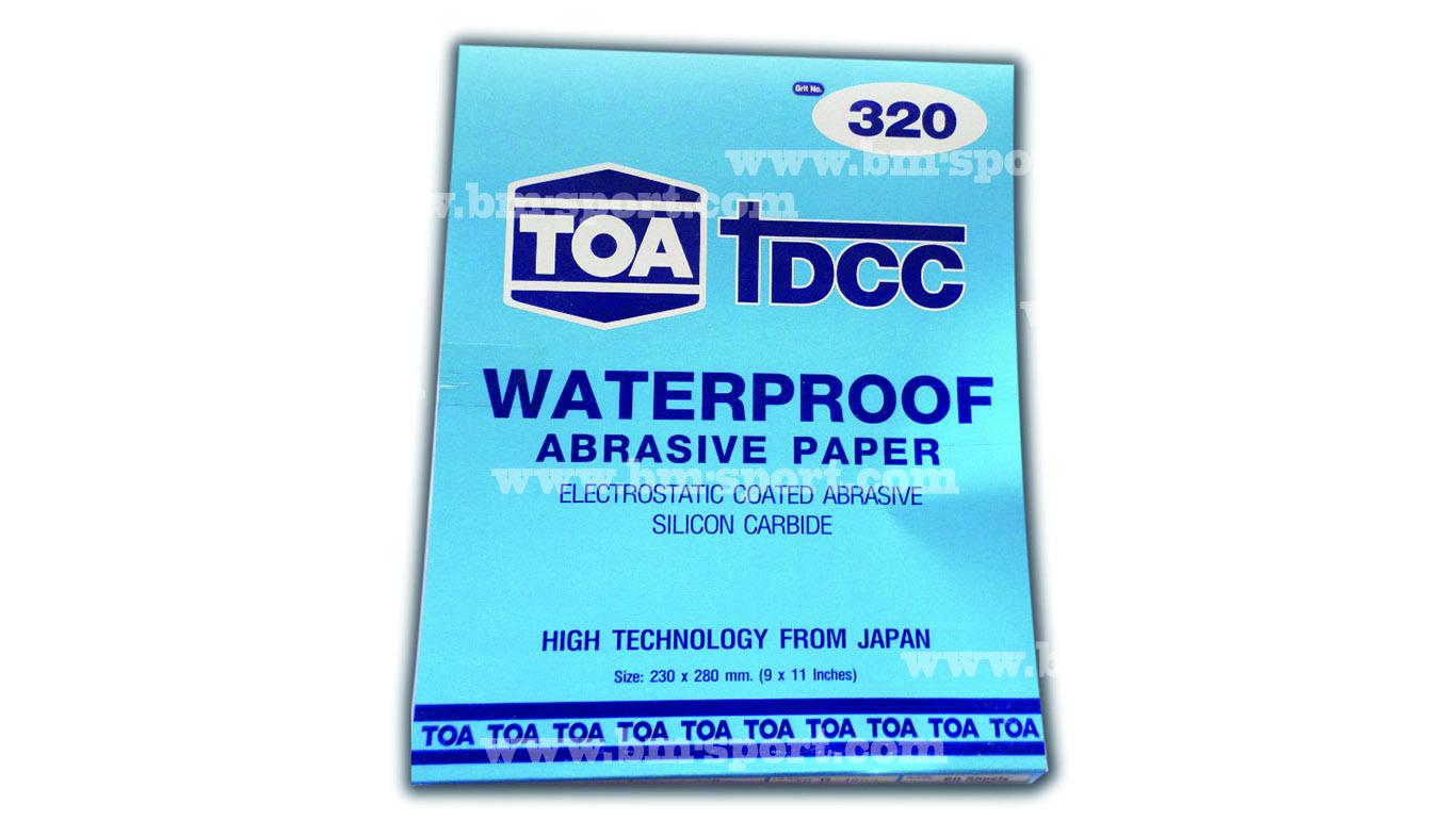 TOA Waterproof ABRASIVE PAPER กระดาษทราย หลาหหลายเบอร์