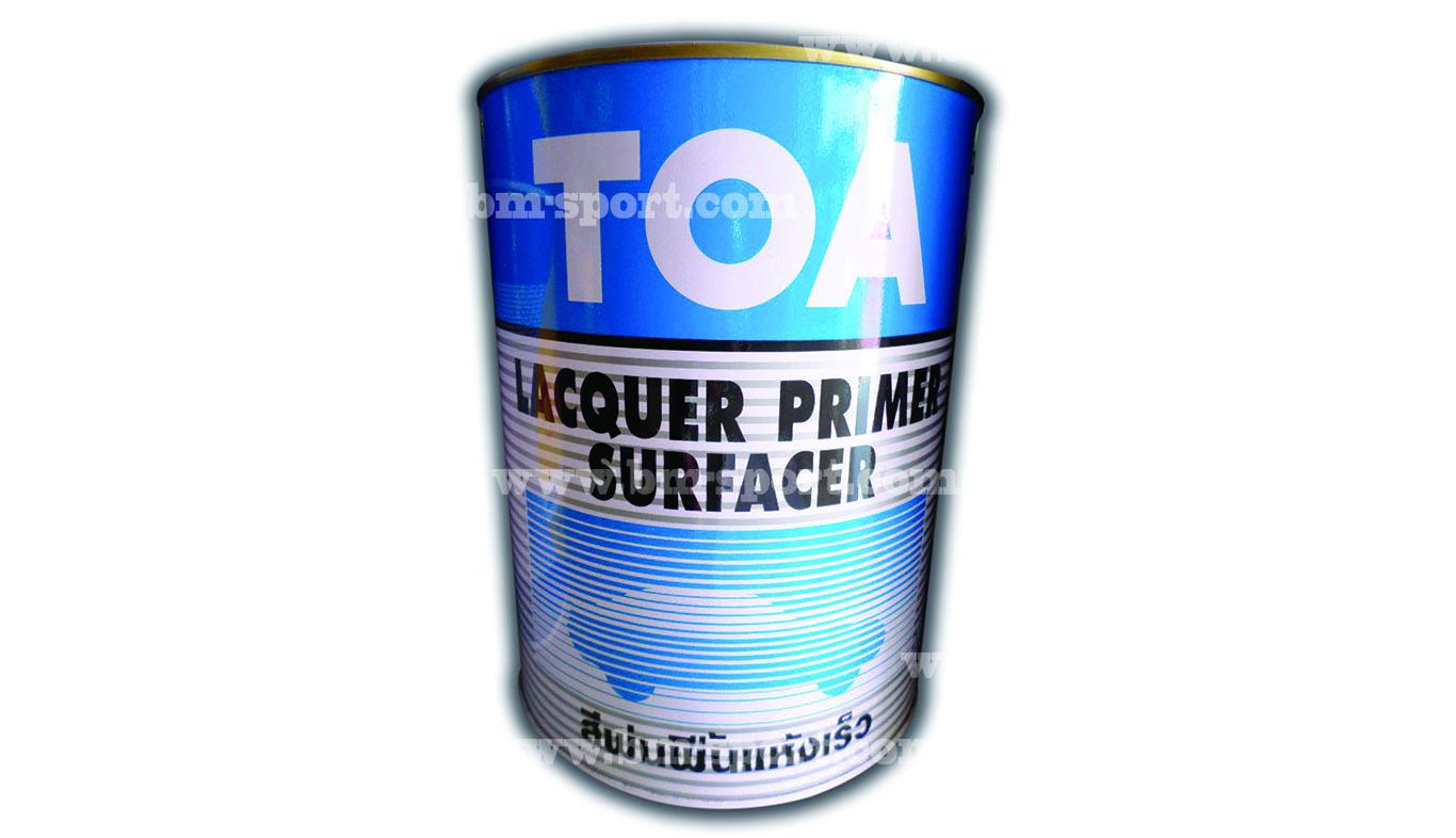 TOA Lacquer Primer Surfacer สีพ่นพื้นแห้งเร็ว ขนาด 3.785 กล.