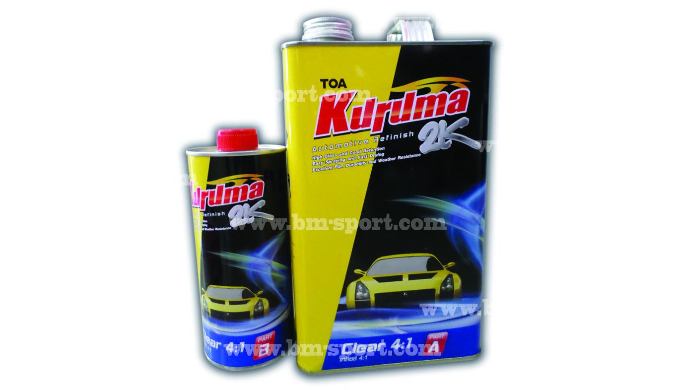 TOA KURUMA 2K Clear 4-1 ขนาดแกลลอนและกระป๋อง
