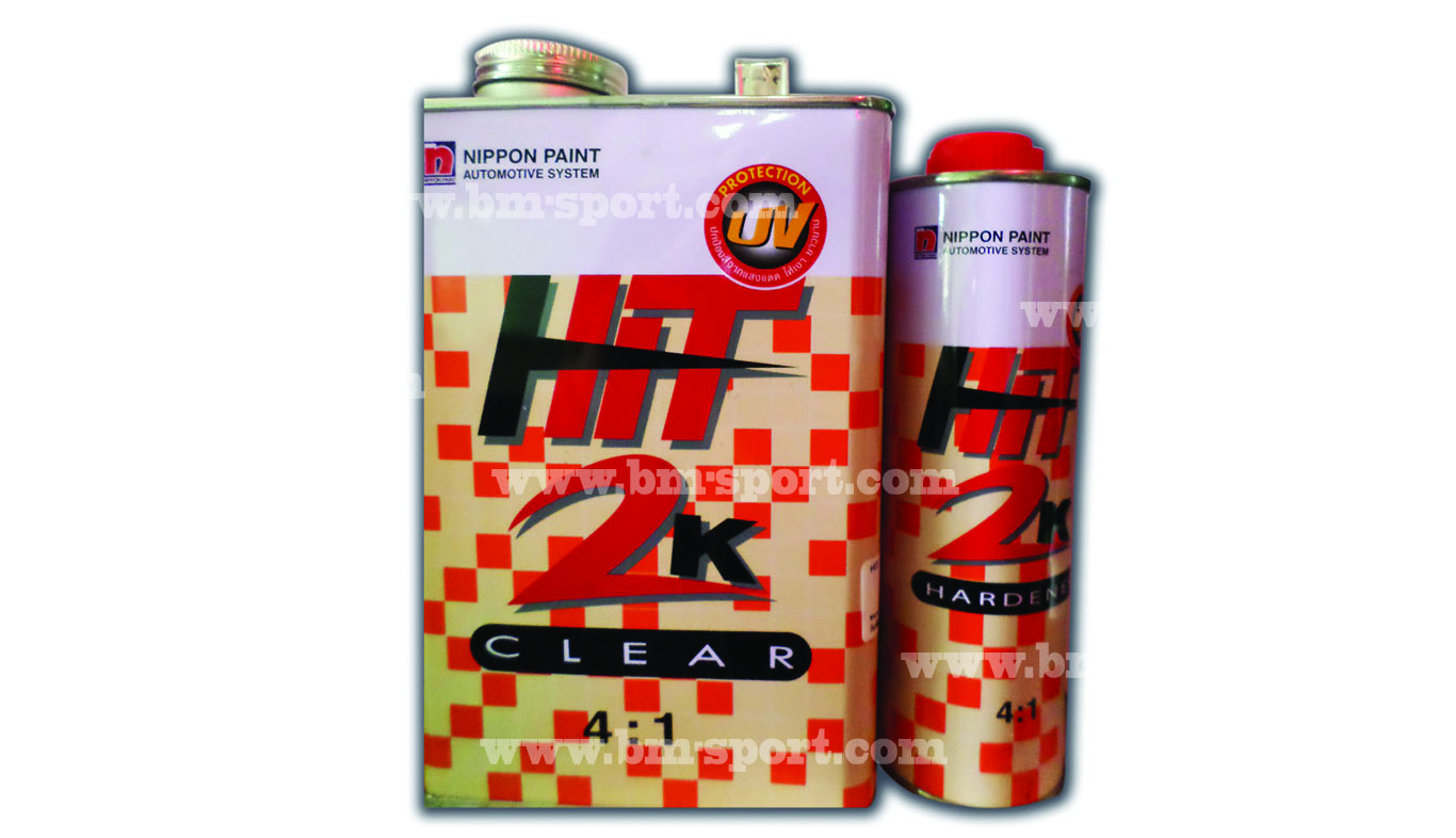 NIPPON PAINT Hit 2K CLEAR 4-1 ขนาด 0.85 ลิตร + Hardener  0.213 ลิตร