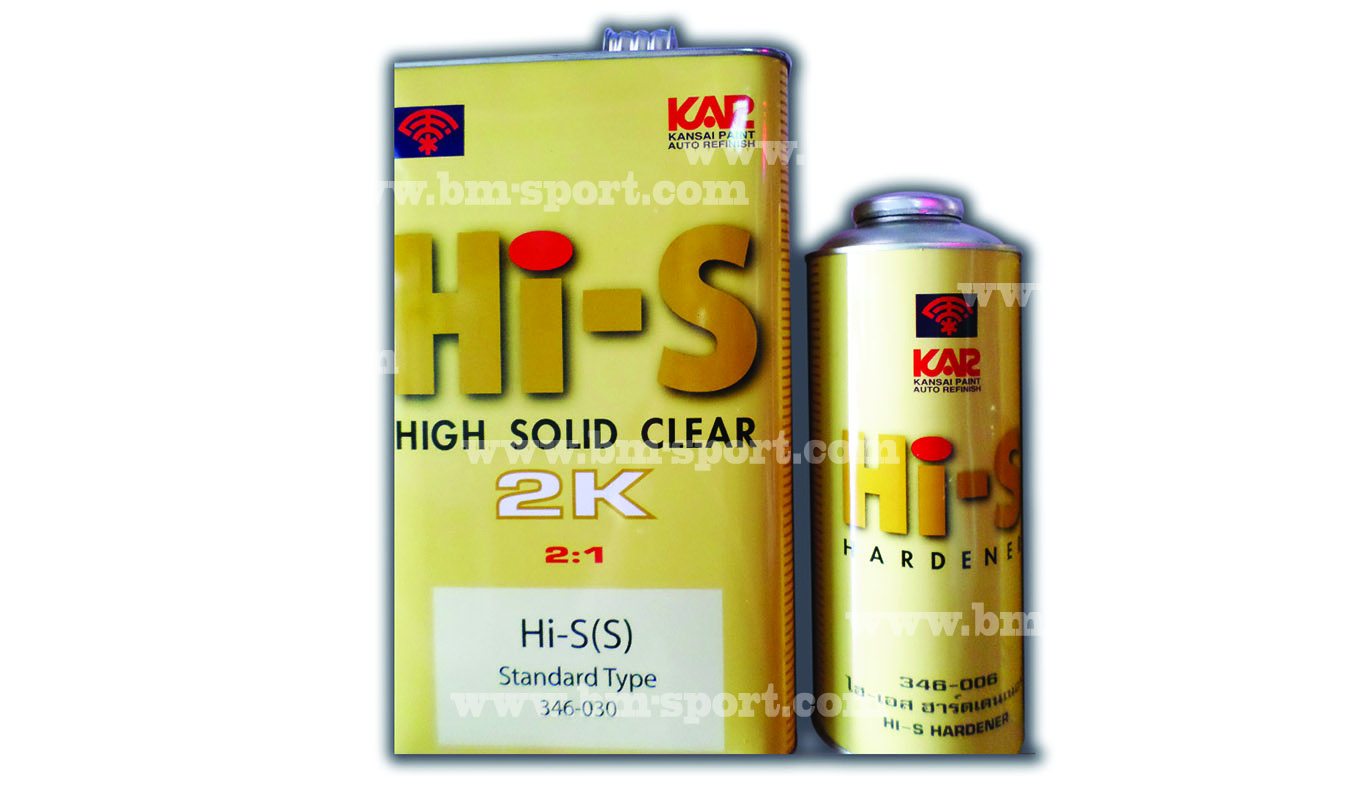 KAR Kansai Hi-S HIGH SOLID CLEAR 2K 2-1 + Hardener