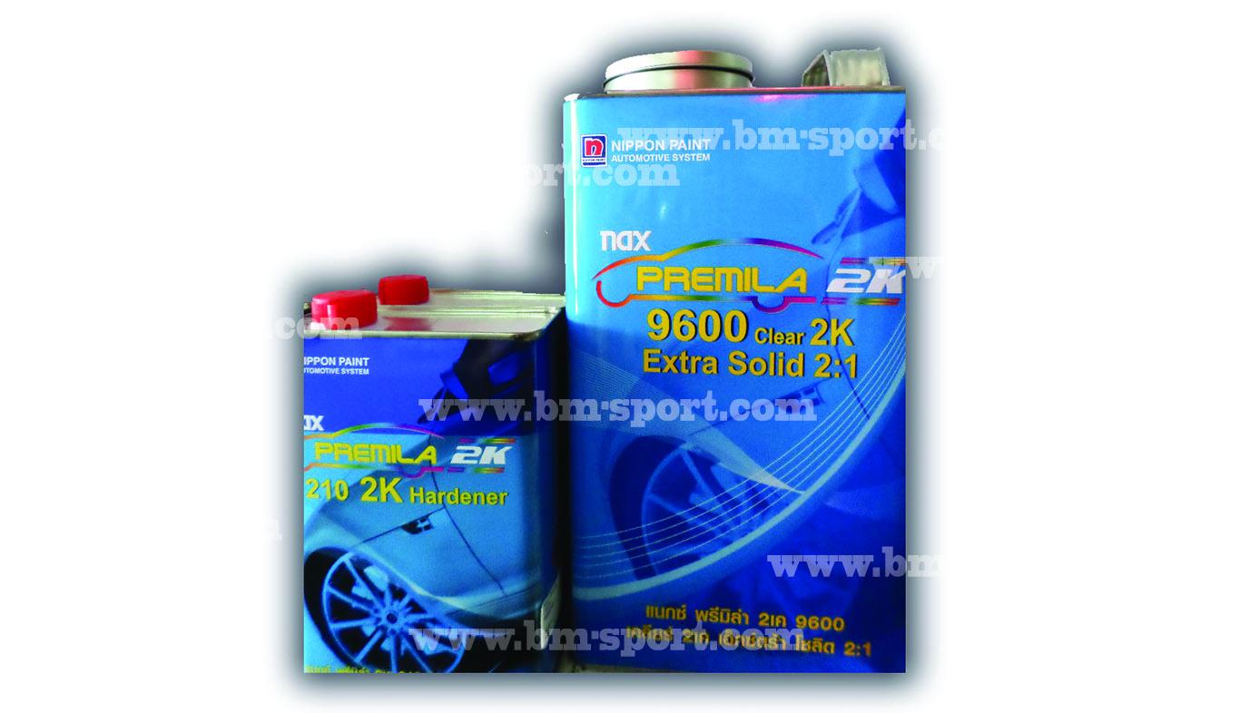 NAX พรีมิล่า 2K 9600 Extra Solid 2-1 + 210 2K Hardener